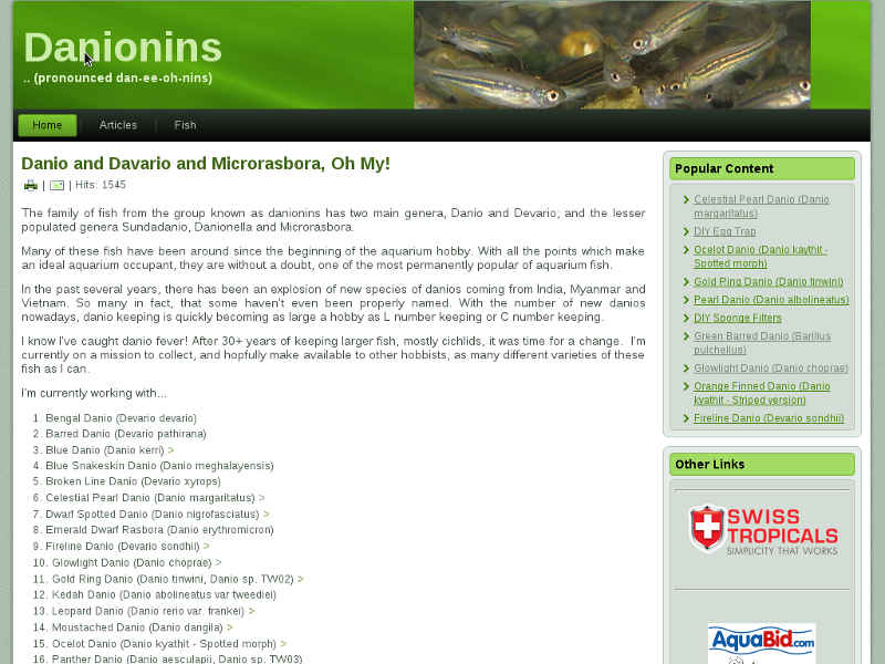 Old Danionins Website